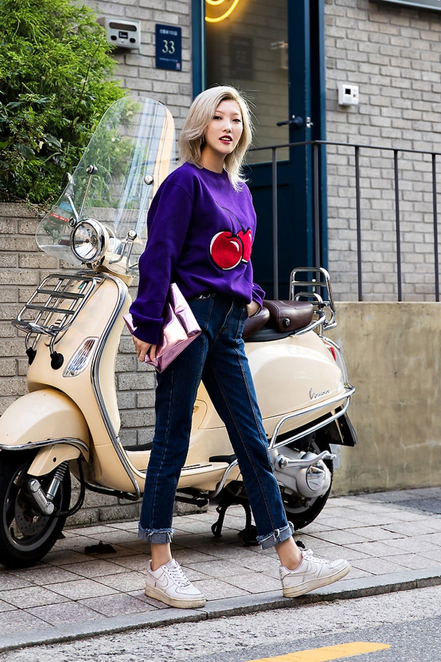 Lee Hyeyeon, Street Fashion 2017 in Seoul