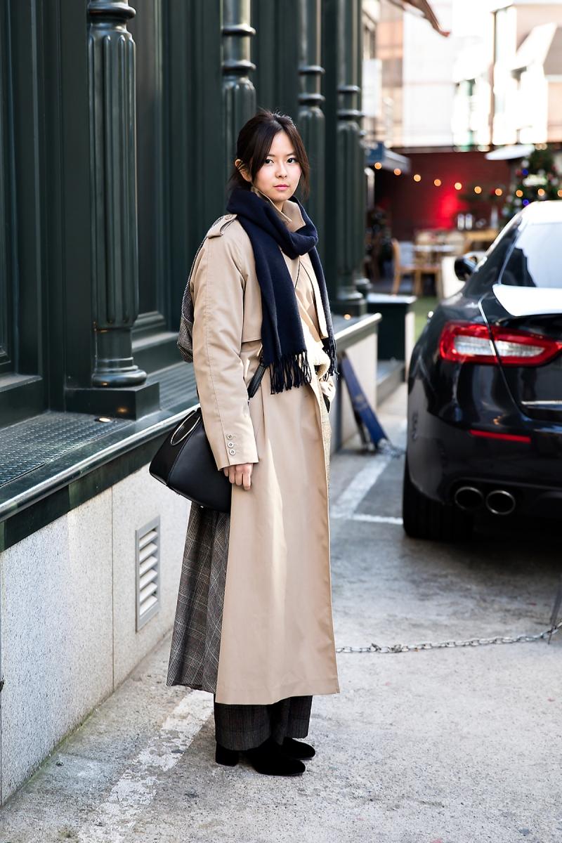 Caroline Delaura, Street style women winter 2017 inseoul