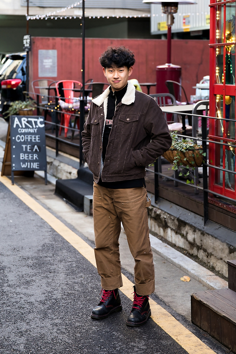 Cho Hyunjin, Street style men winter 2017 in seoul