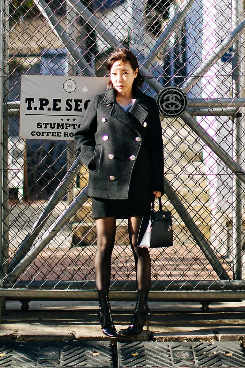 Cho Inkyung, Street style women winter 2017-2018 inseoul