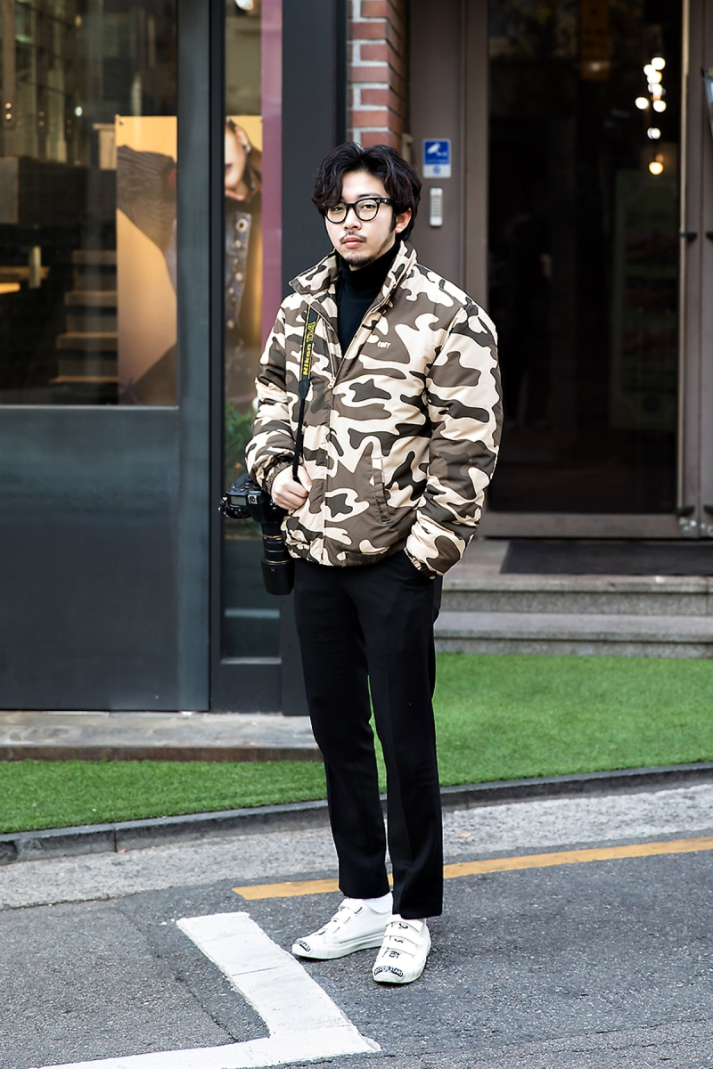 Cho Sungjun, Street style men winter 2017 in seoul