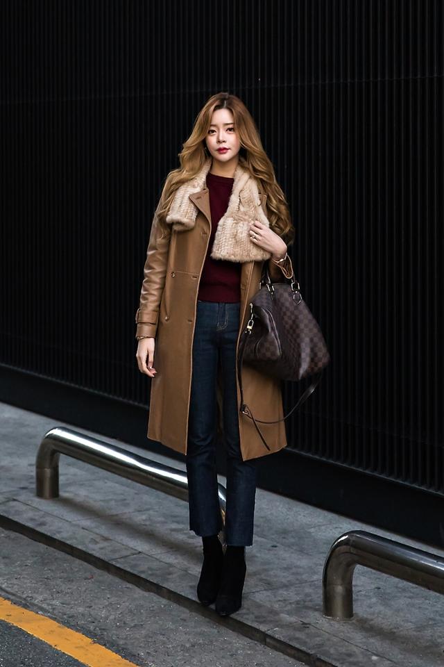 Eun Sol, Street style women winter 2017 inseoul