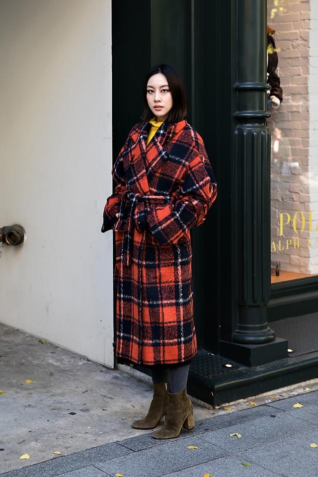 Gye Hanhee, Street style women winter 2017 inseoul