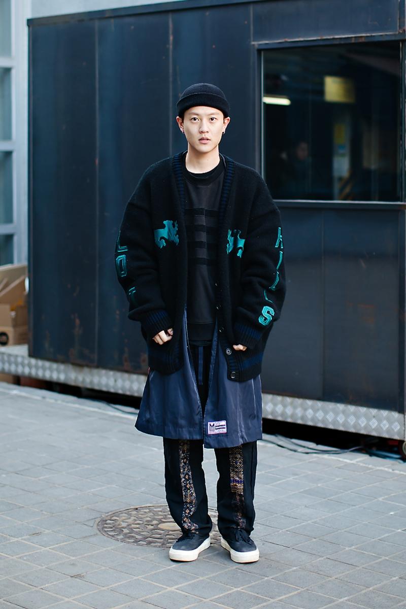 Ha Junghoon, Street style men winter 2017-2018 inseoul