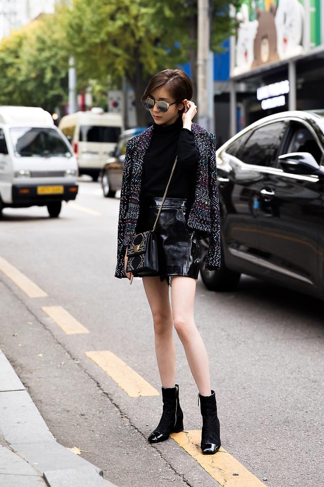 Hange, Street style women winter 2017 inseoul