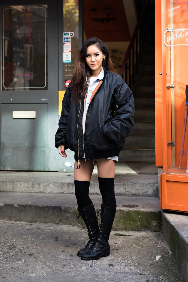 Jung Jiyoung, Street style women winter 2017 inseoul