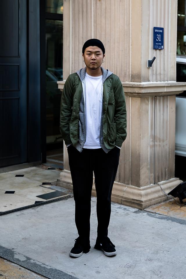 Kim Jiwoong, Street style men fall 2017 inseoul