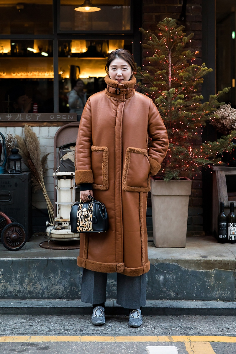 Lee Bomi, Street style women winter 2017 inseoul