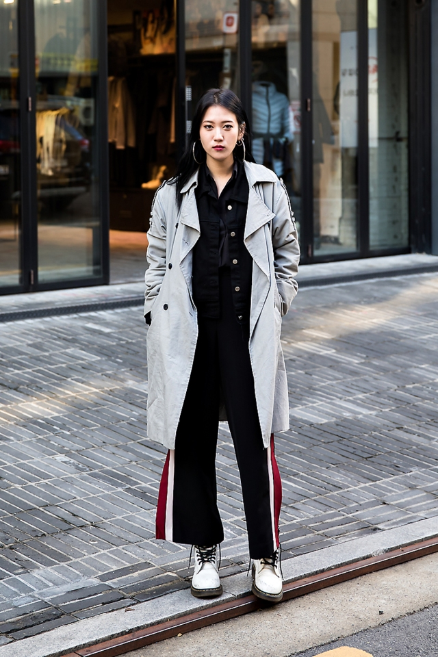 Lee Jieon, Street style women winter 2017 in seoul