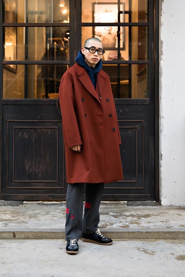 Park Sinwoo, Street style men fall 2017 inseoul