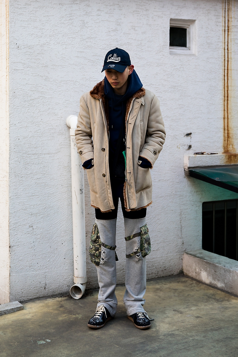Park Sinwoo, Street style men winter 2017 in seoul