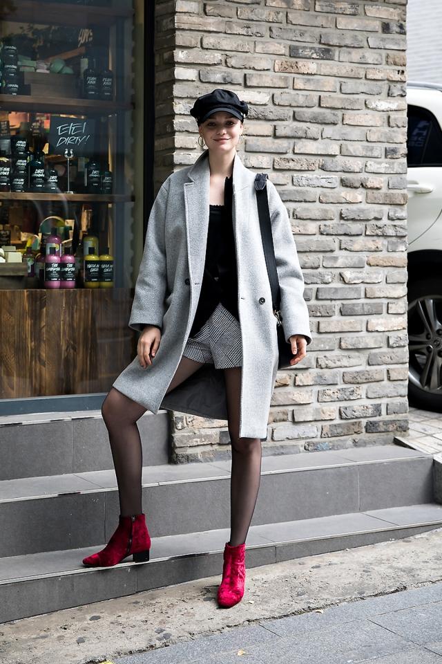 Tasia, Street style women winter 2017 inseoul