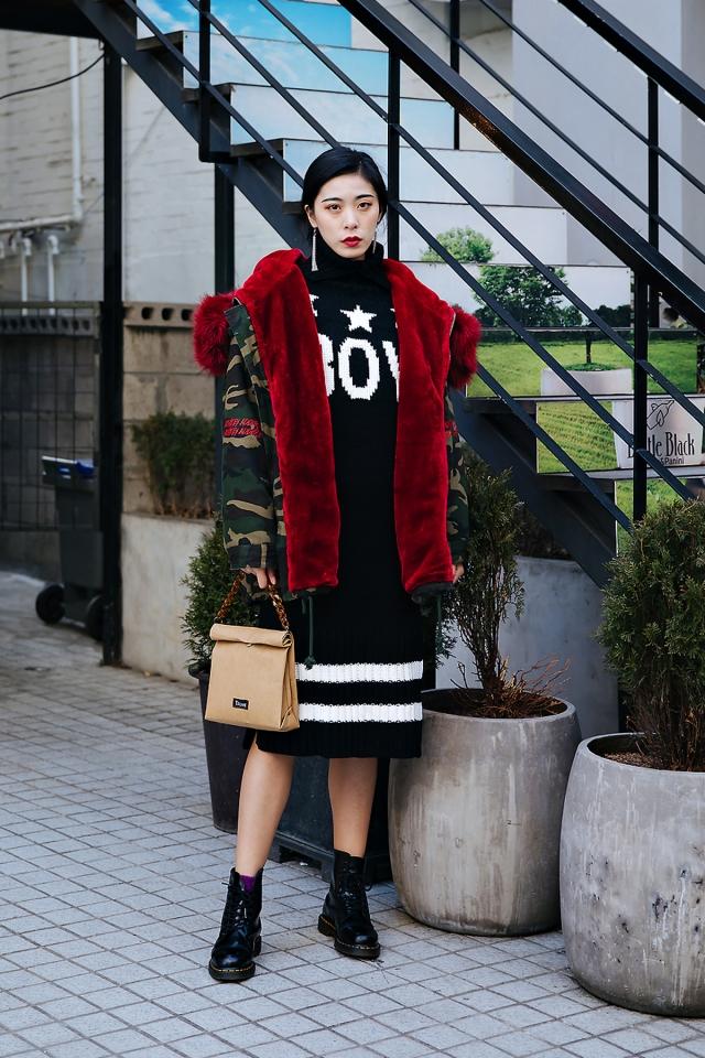 Zoey, Street style women winter 2017-2018 inseoul