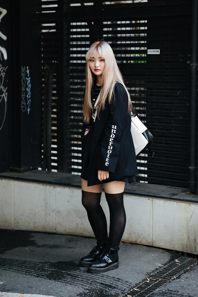 Cheon Sihyun, Street style women spring 2018 in seoul
