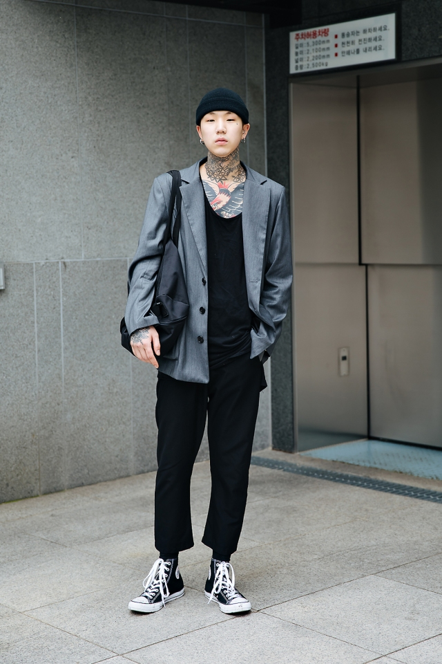 Kim Dawoon, Street style men spring 2018 in seoul