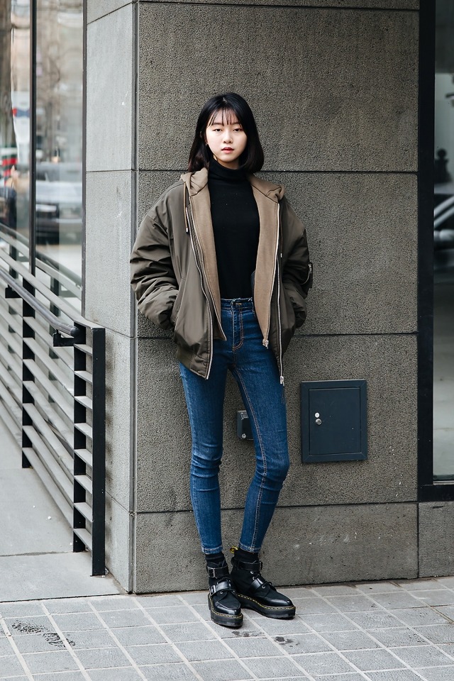 Lee Jiyoon, Street style women winter 2017-2018 in seoul