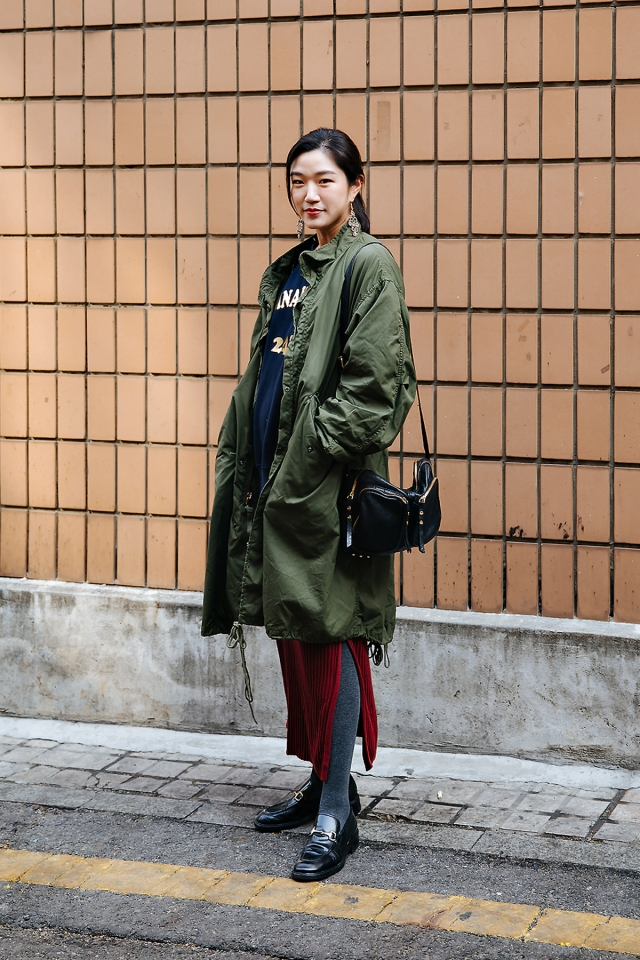 Yang Kyungeun, Street style women winter 2017-2018 inseoul